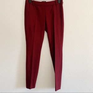 J Crew Minnie Bi Stretch Wool Slim Ankle Pants